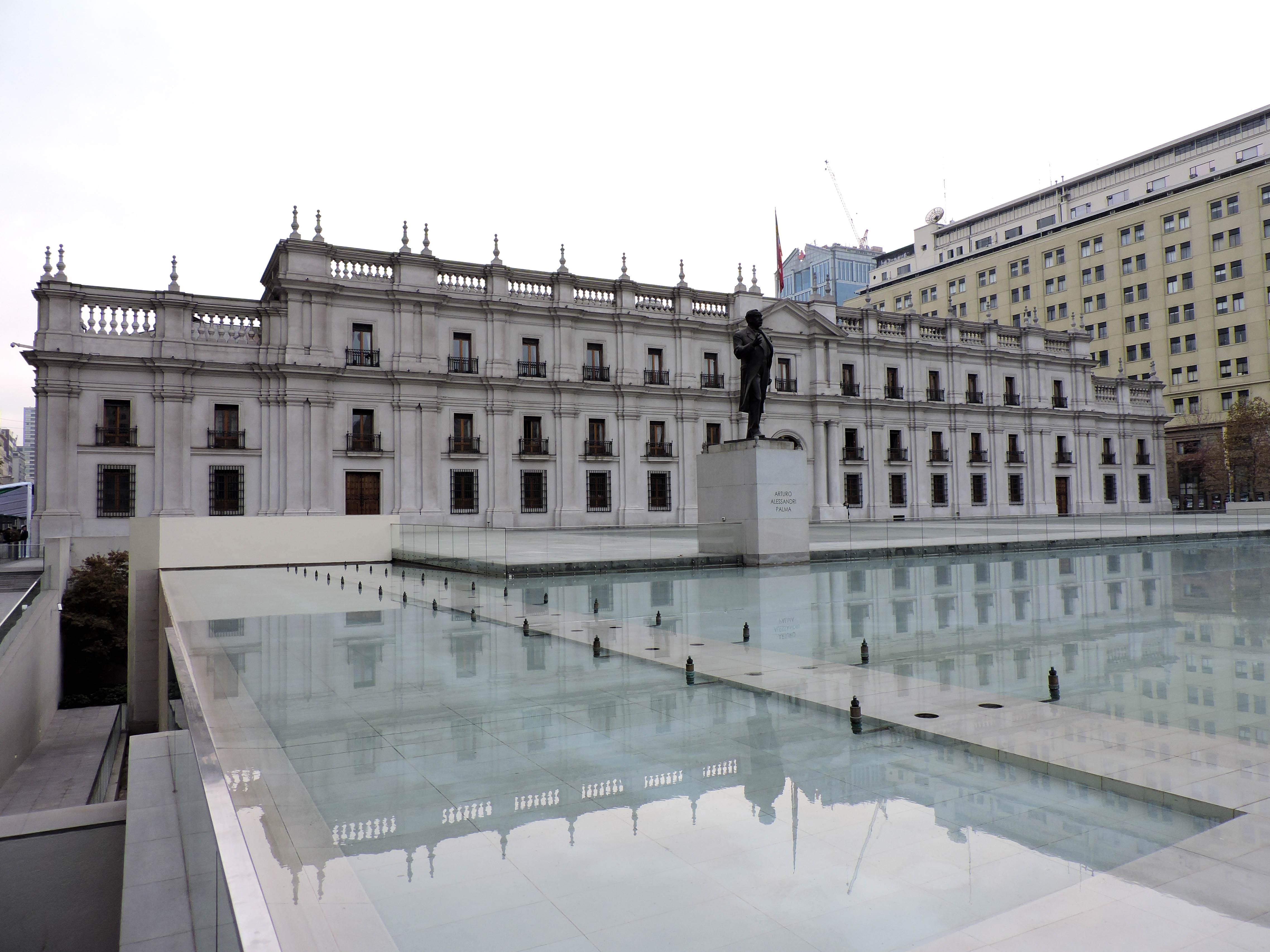 La Moneda government palace in Santiago Chile
