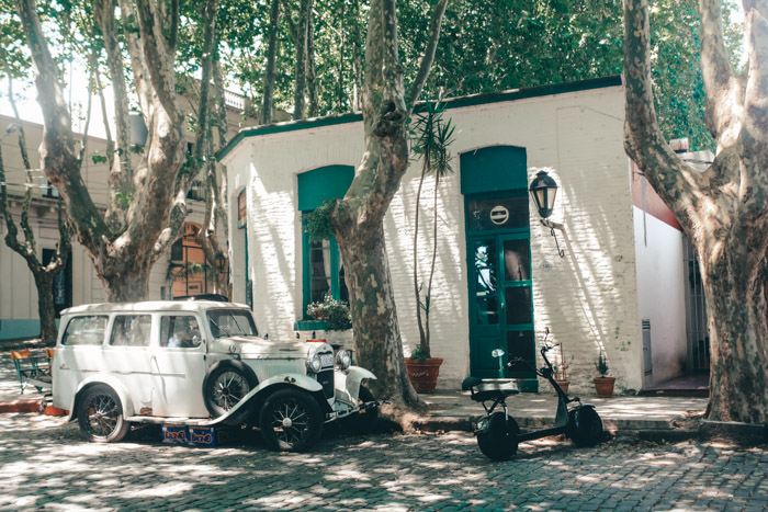 Street in Colonia del Sacramento Uruguay