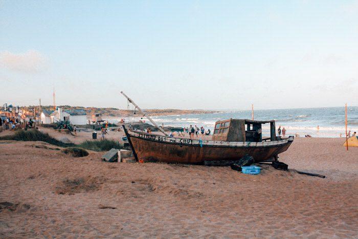 boats in Uruguayan beach