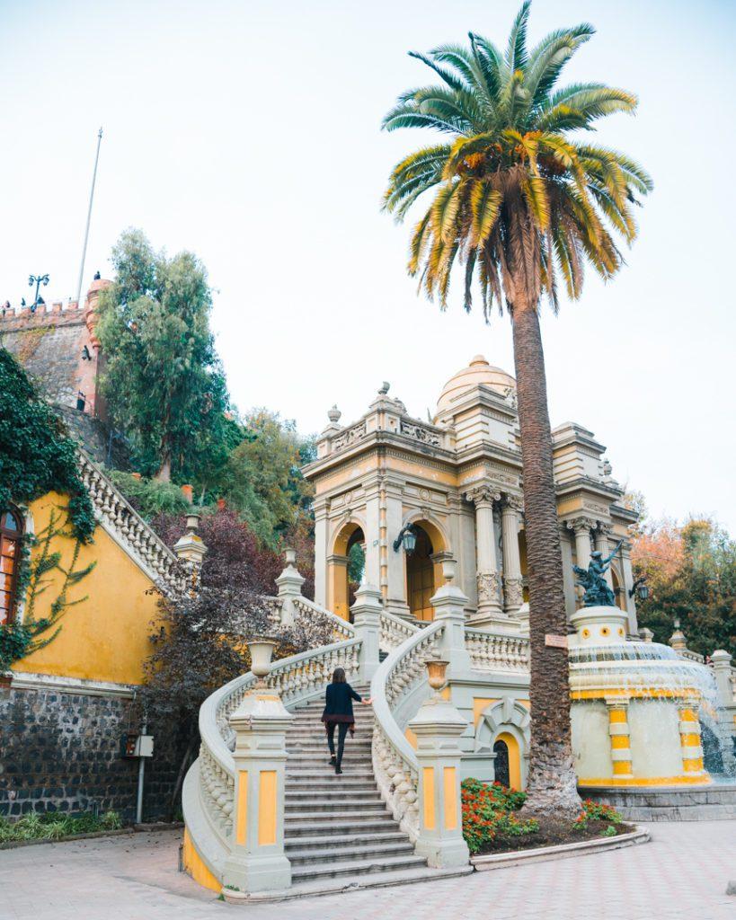 Santa Lucia Hill in Santiago Chile