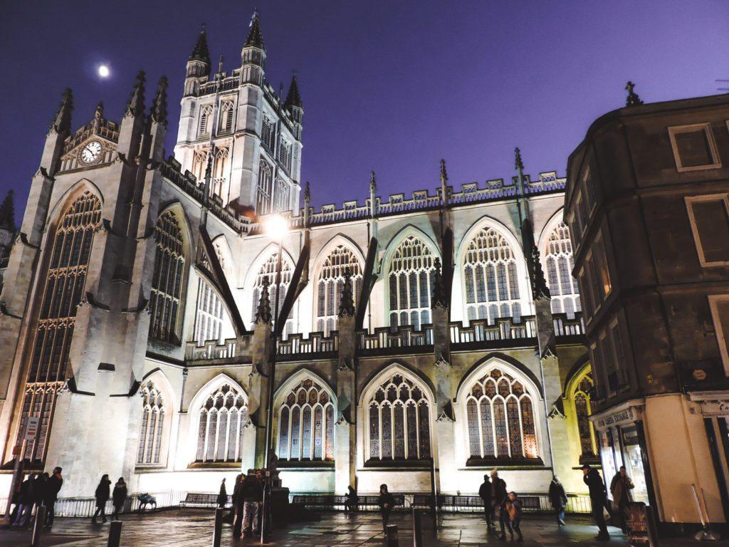 Bath Cathedral at Night
