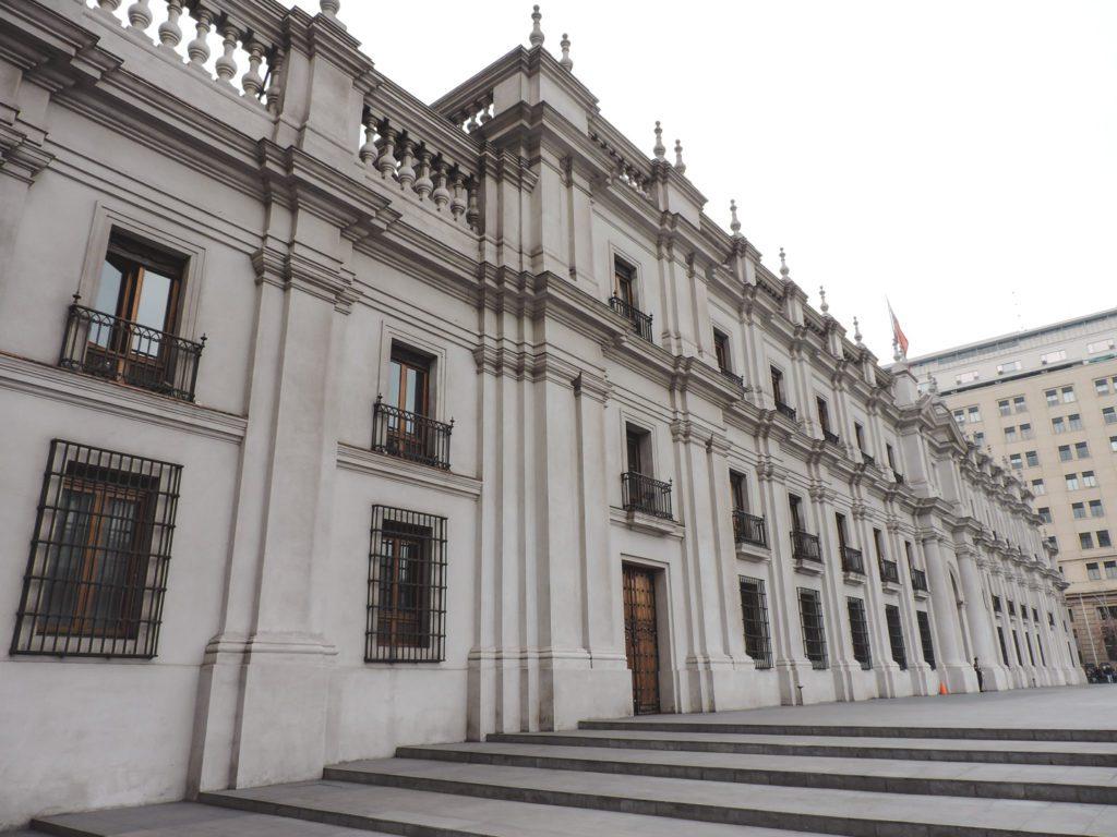 Detail of La Moneda Palace in Santiago Chile