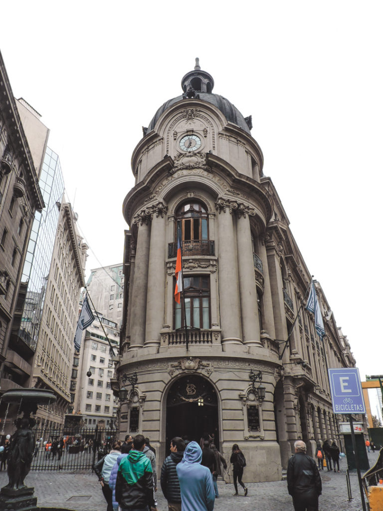 Old Stock Exchange in Santiago, Chile
