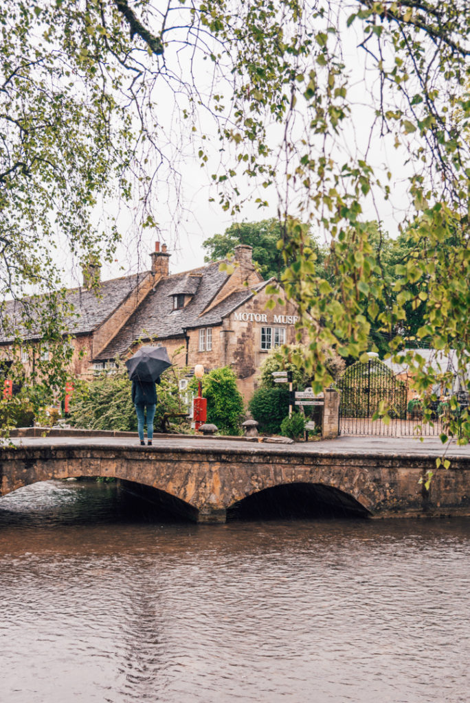 Bourton on the water on a rainy day