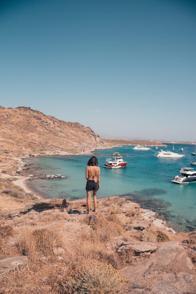 Relaxing on Monastiriki Beach Paros