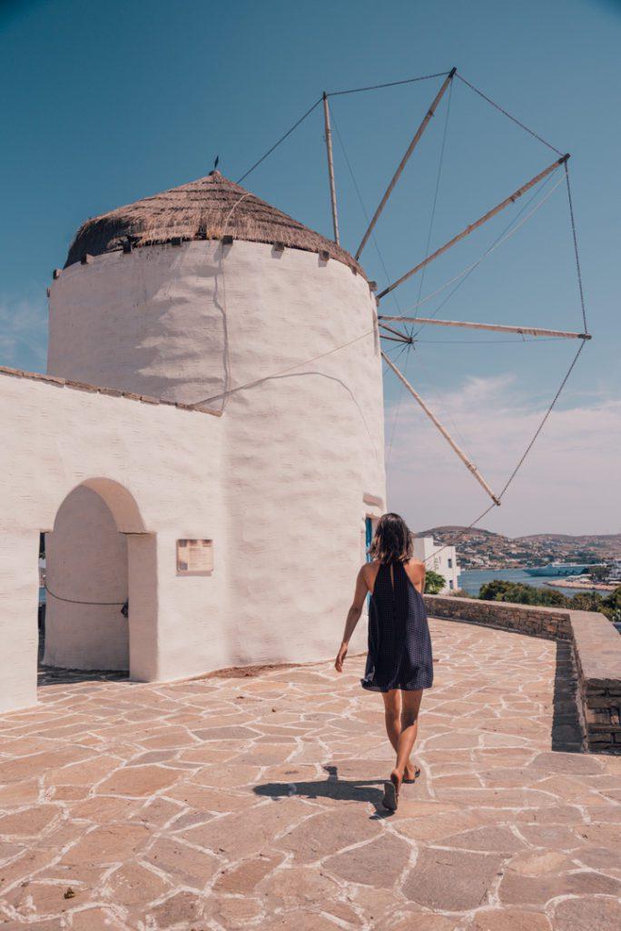 Windmills in Paros, Greece