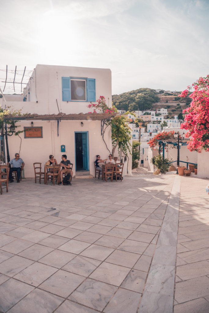 Street in Lefkes Greece