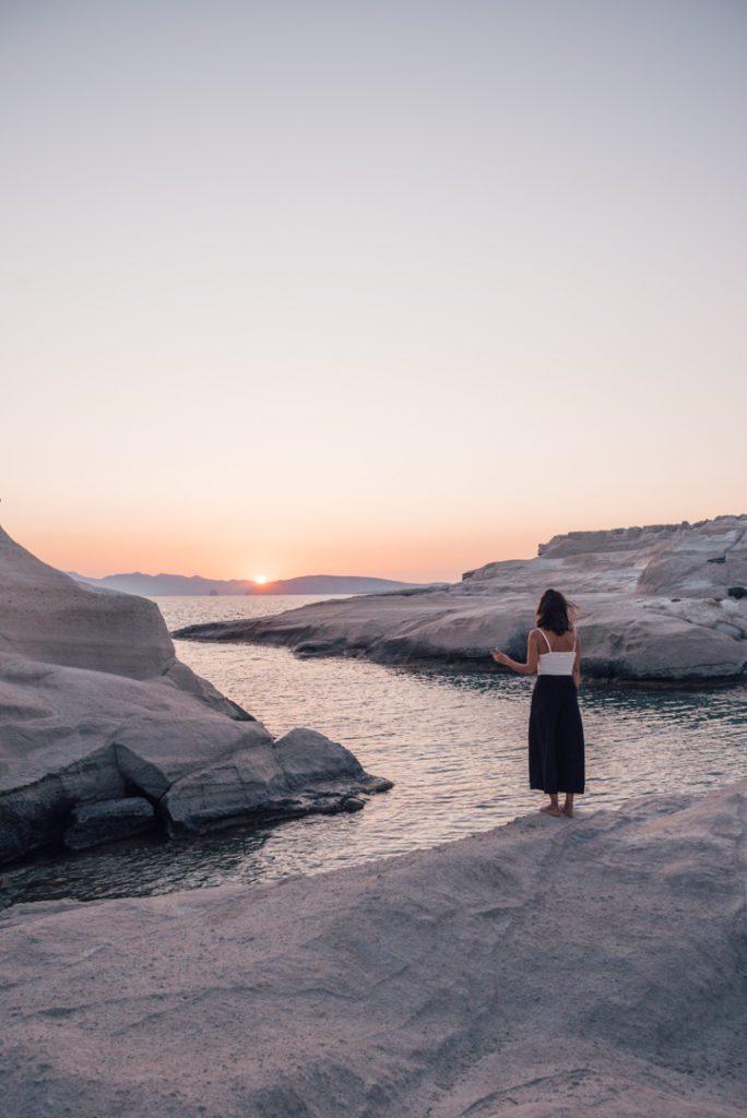 Sunrise on Sarakiniko Beach, Milos