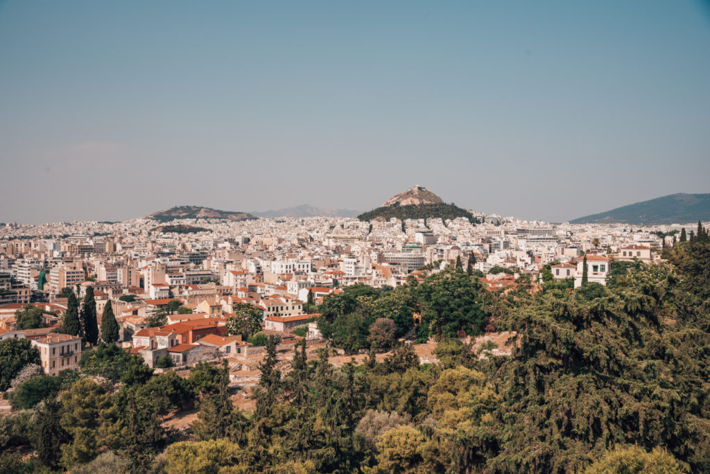 View over Athens Greece
