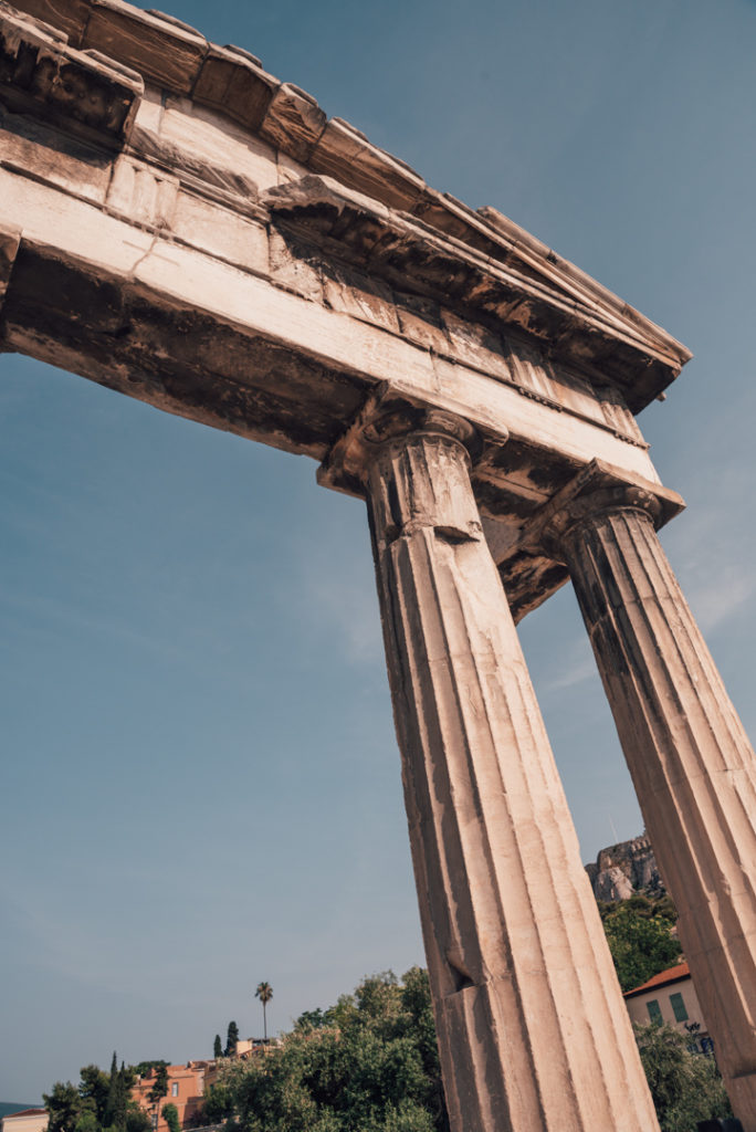 Ancient Greek Temple in Plaka, Athens