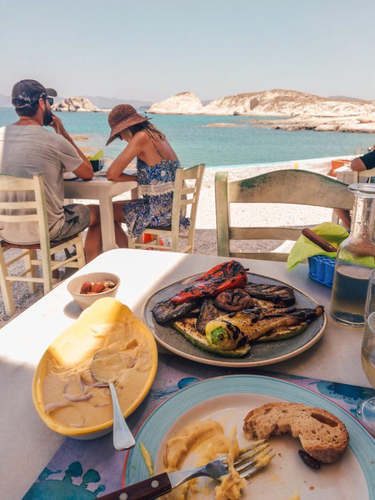 Greek Food in Milos