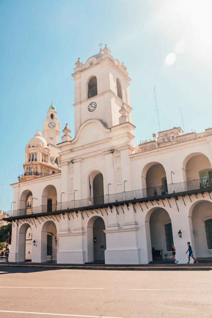Building in Plaza 5 de Mayo Buenos Aires