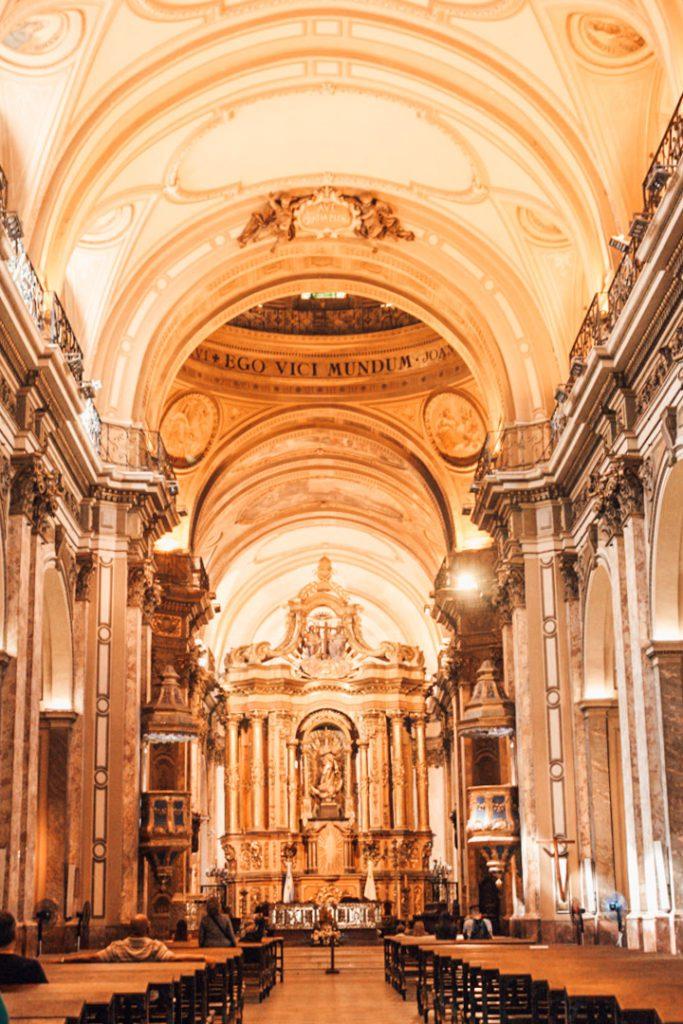 Buenos Aires church interior