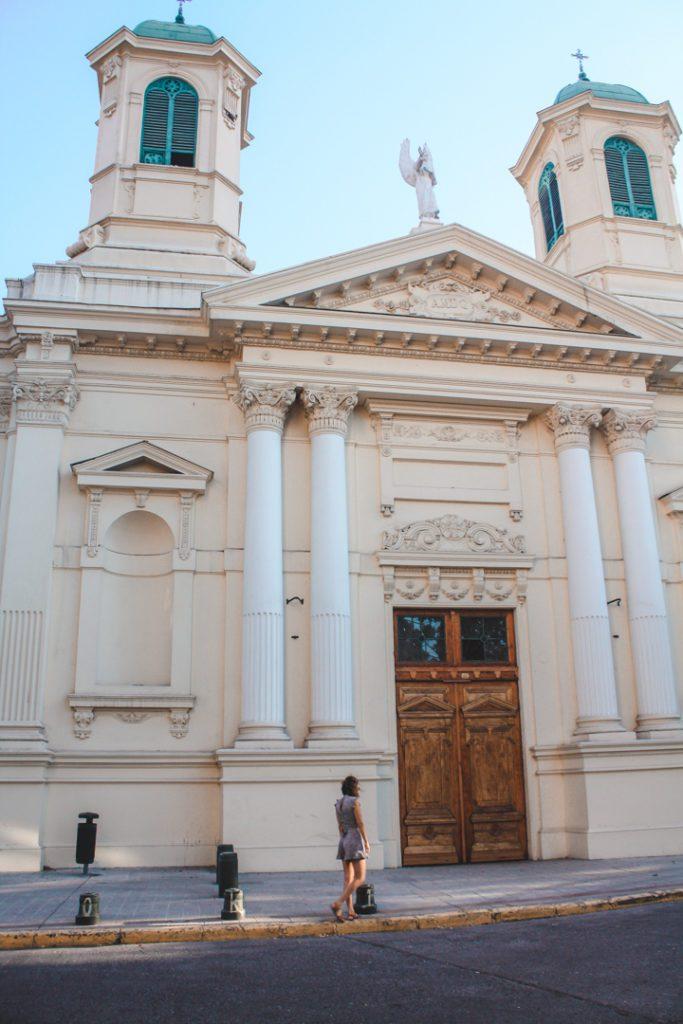 Church in downtown Santigao.