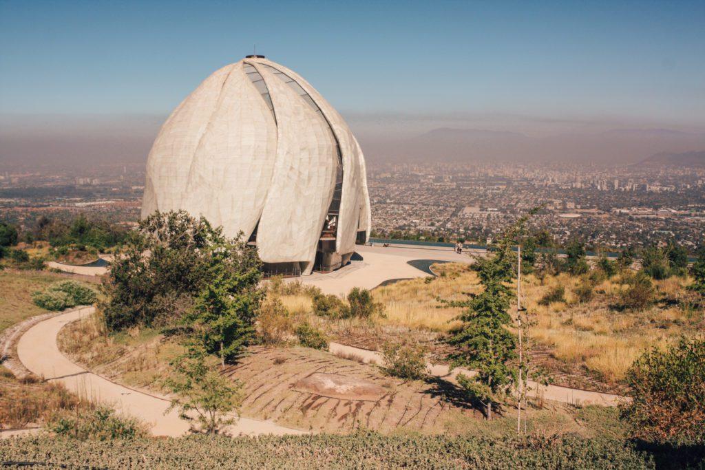Bahai Temple, Santiago Chile with view