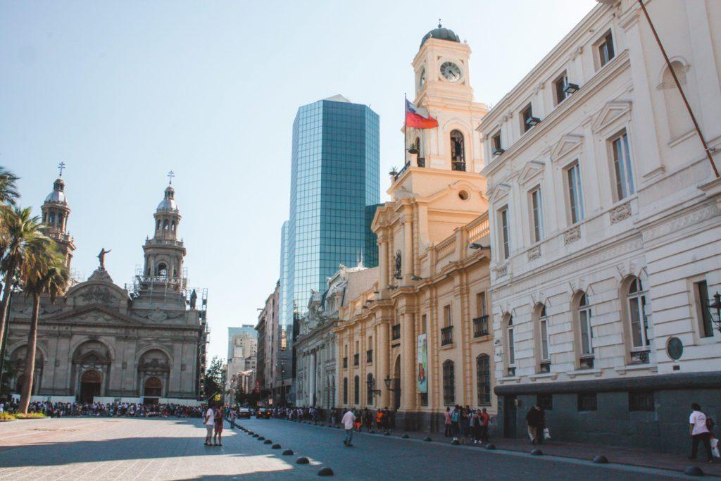 Plaza de Armas in Santiago Chile