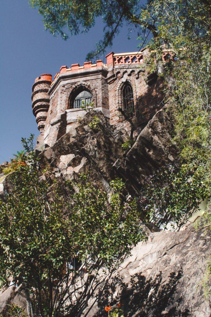 Castle details on Santa Lucia hill in Santiago Chile