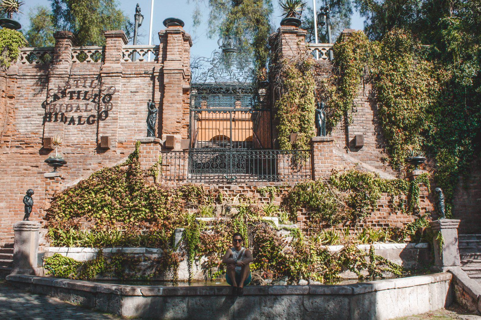 Castillo Hidalgo in Santa Lucia Hill, Santiago Chile