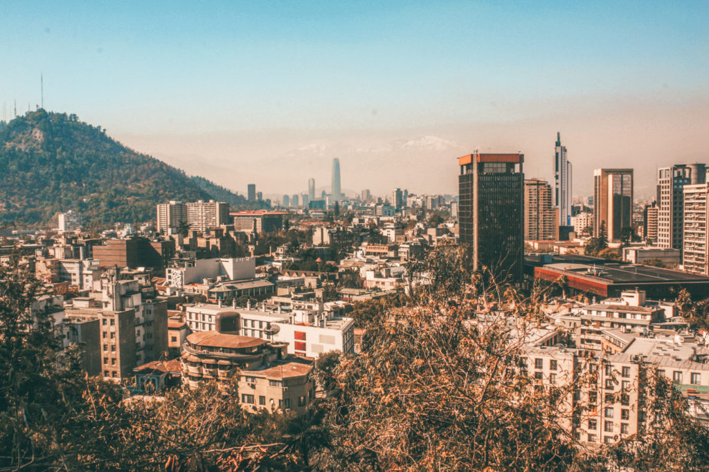 View of Santiago de Chile from Santa Lucia Hill