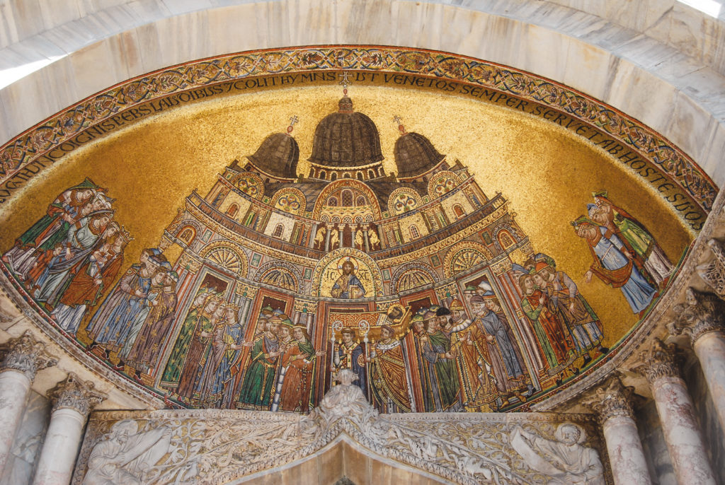 Mosaics on St Mark's Basilica, Venice