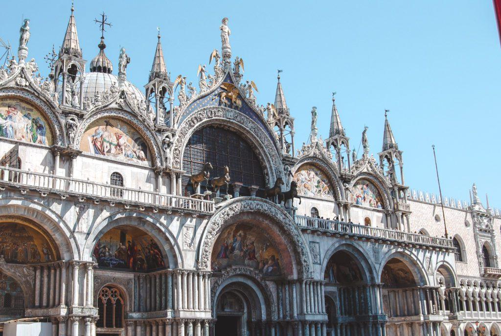Basilica facade- St Mark's Venice Italy