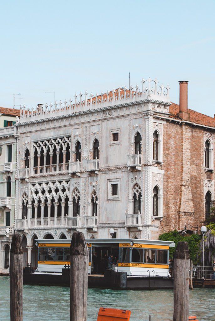 Ca'Doro Palace in Venice, Italy