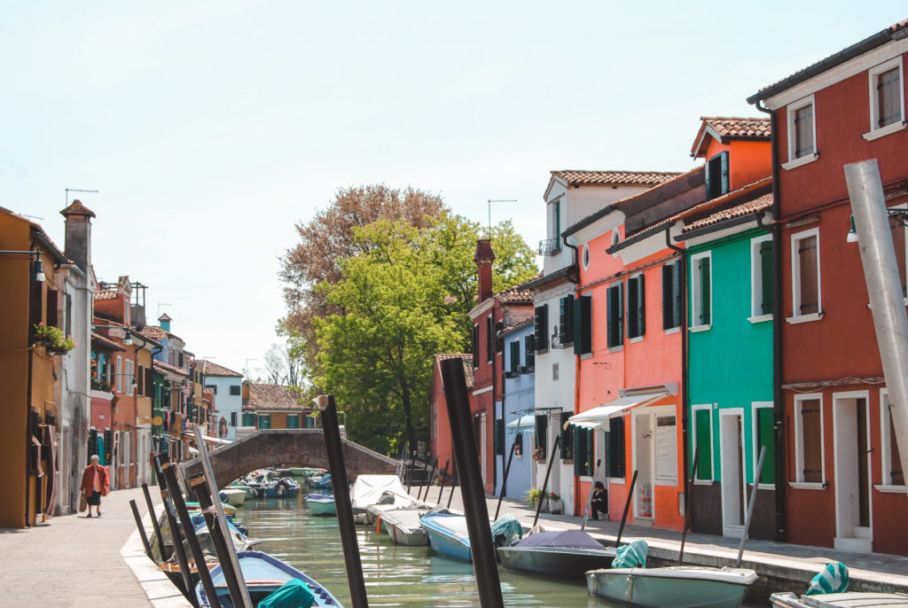 Colourful houses in Burano, Venice