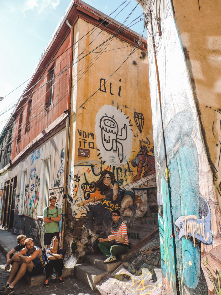 Street art tour in Valparaiso Chile