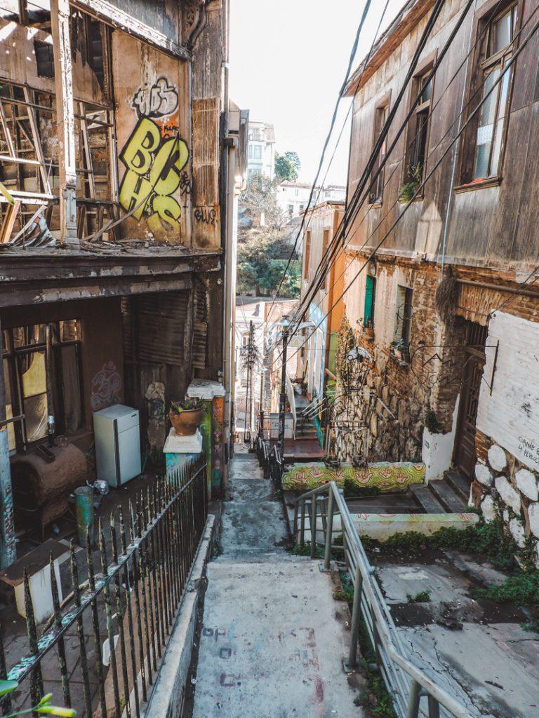 Street in Valparaiso Chile