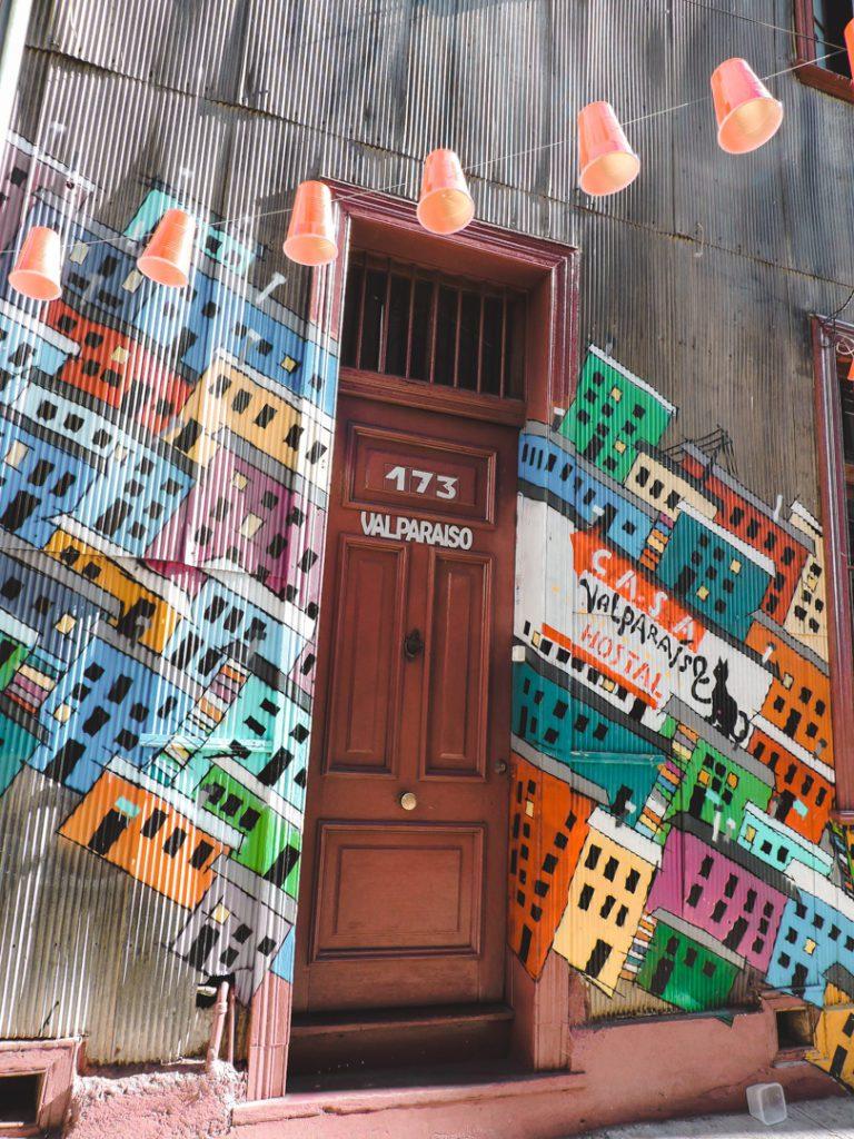 Door in Valparaiso Chile