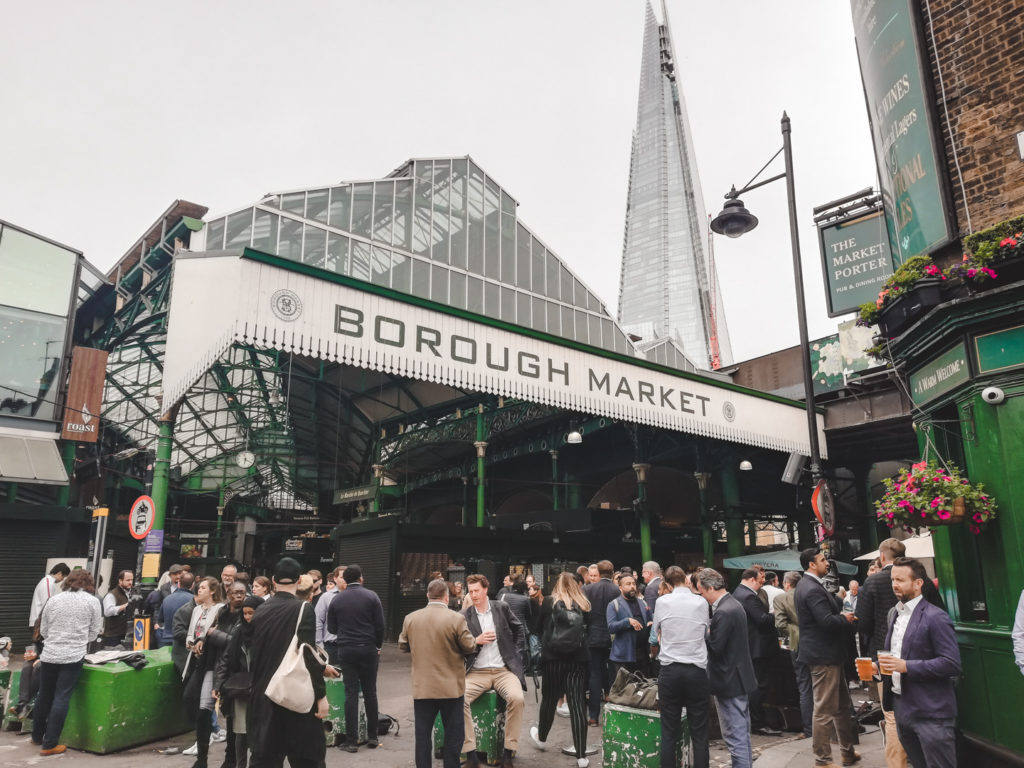 Entrance of borough market london