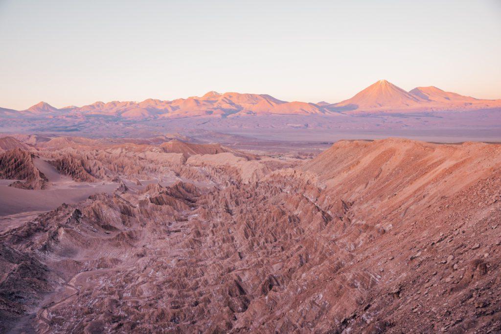 Sunset over Valle del Marte