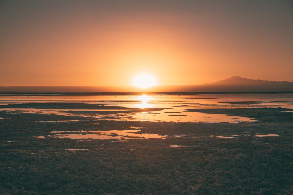Sunset at Laguna Chaxa, Atacama