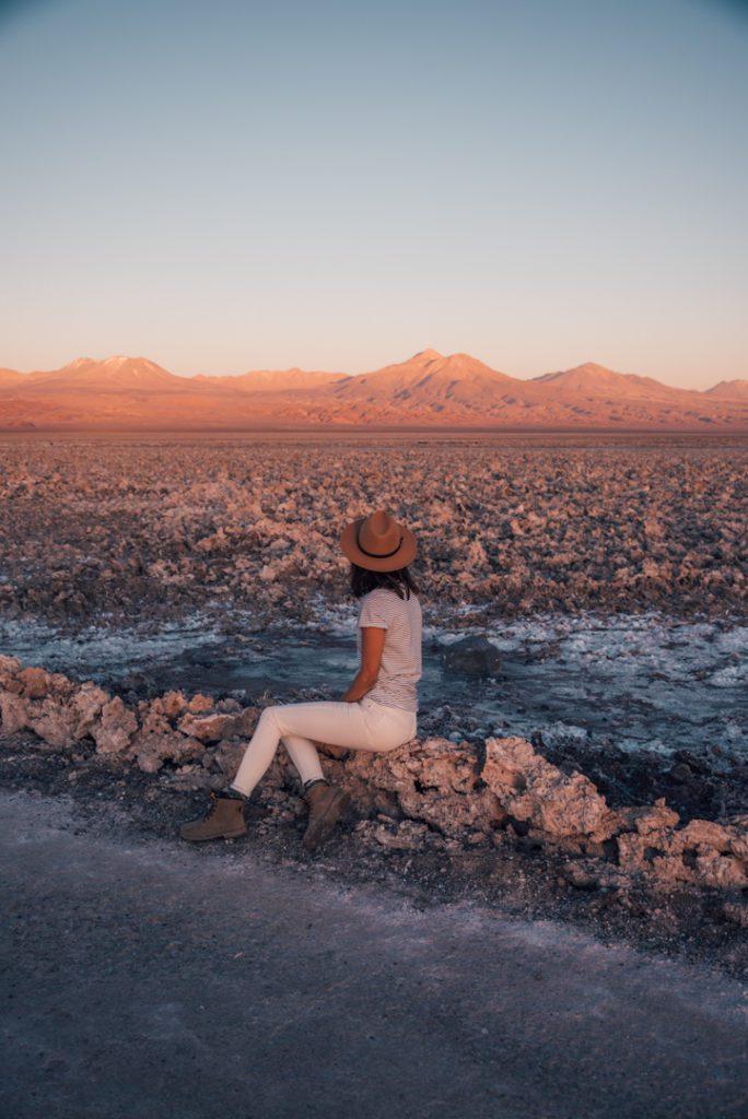 Sunset at Laguna Chaxa