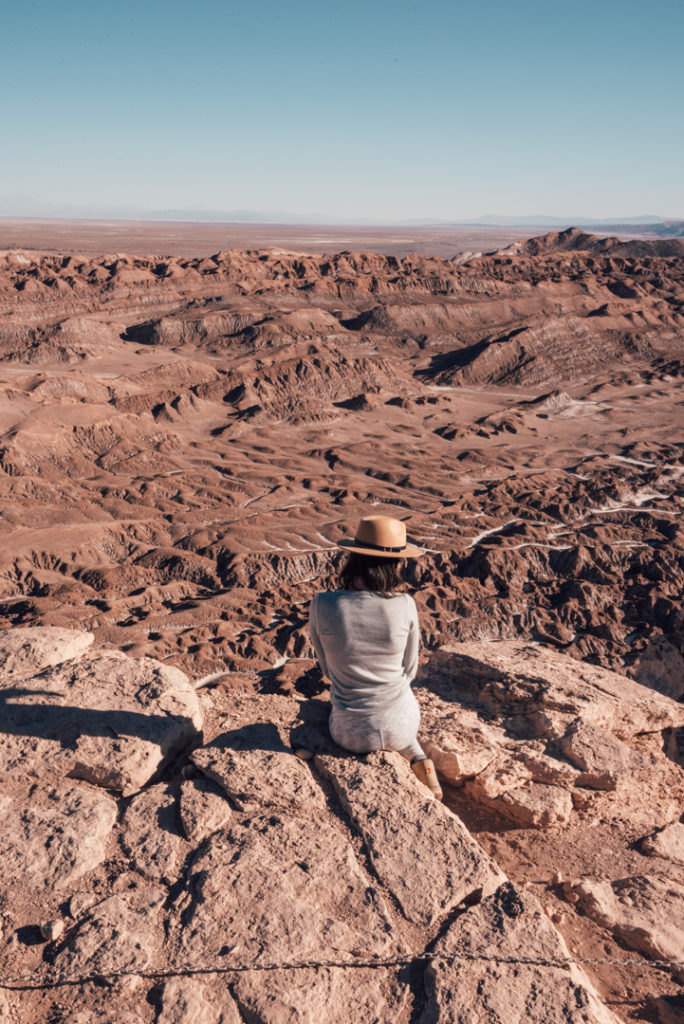 Overlooking the valle de la luna