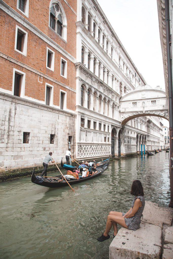 Bridge of Sighs and Gondola Venice