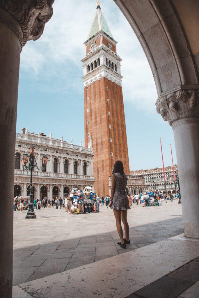 woman in St Mark's Square Venice