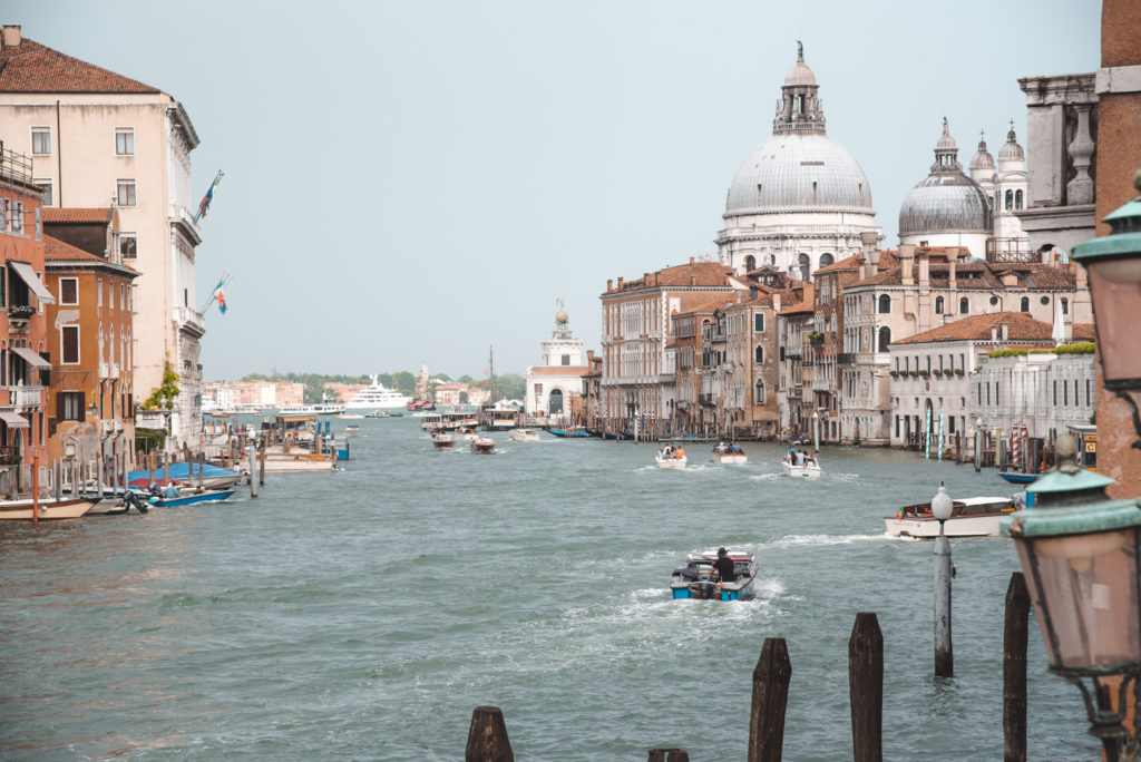 view of the Grand Canal, venice Italy