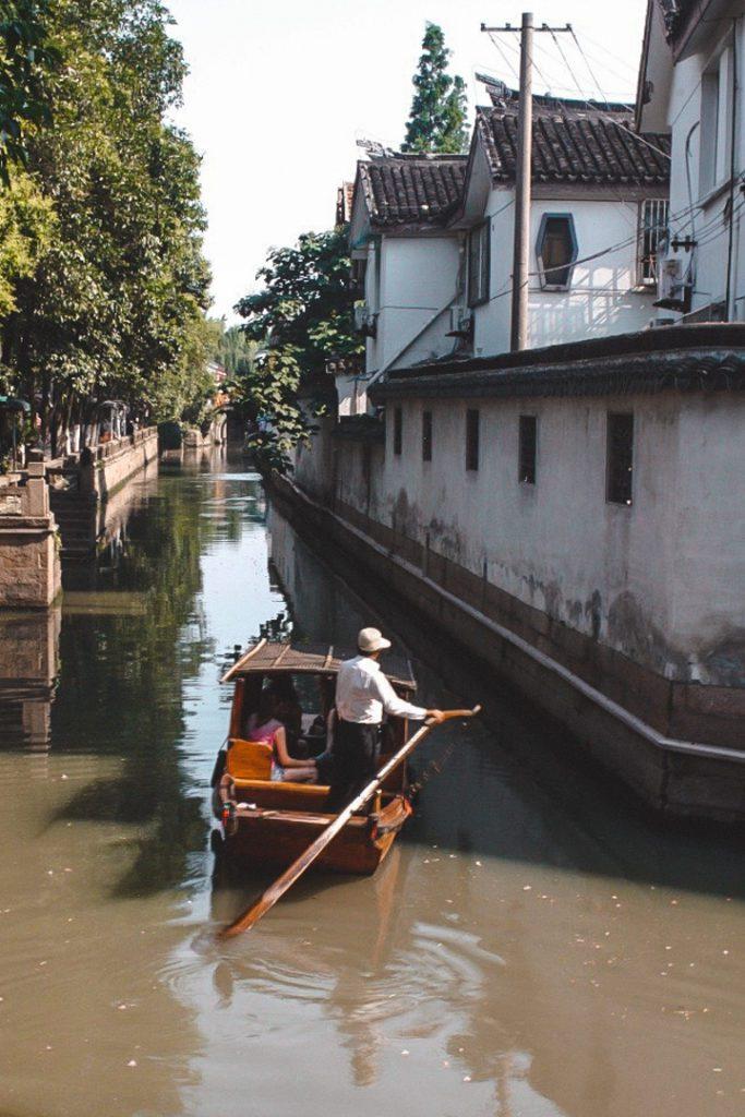 Suzhou old town waterways