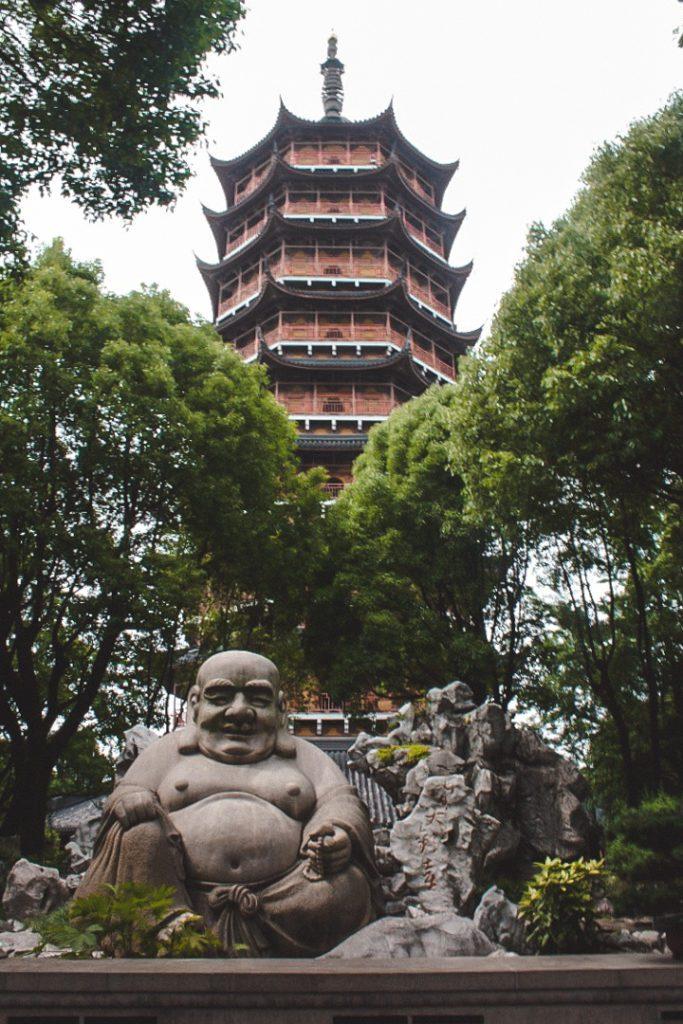Pagoda with Buddha in china