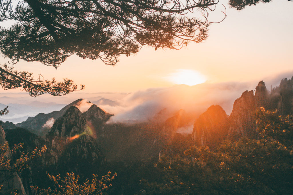 Huangshan- best places to visit in China sunrise in huangshan