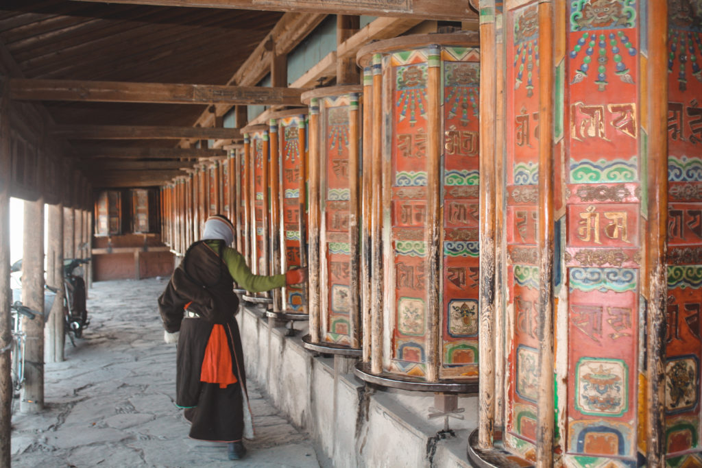Tibetan woman in Xiahe China