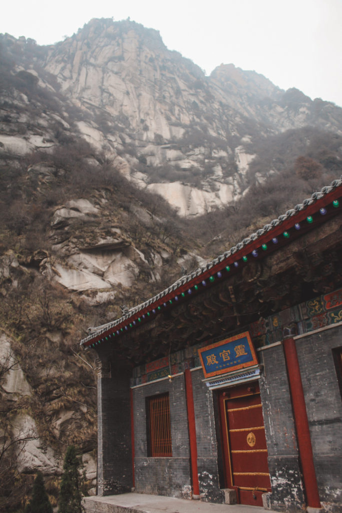 Chinese architecture and mountain