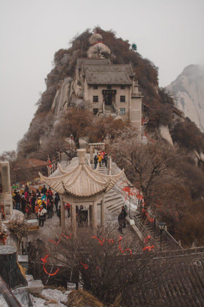Top of Huashan mountain in China