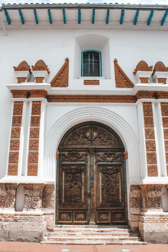 Colonial building in Cuenca Ecuador