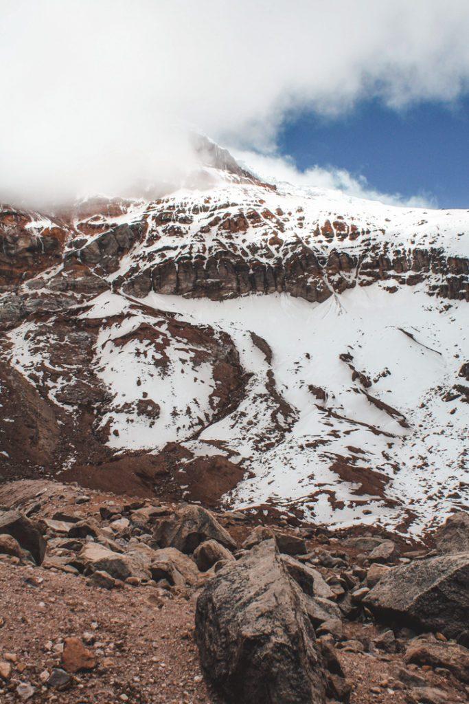 Chimborazo volcano climbing