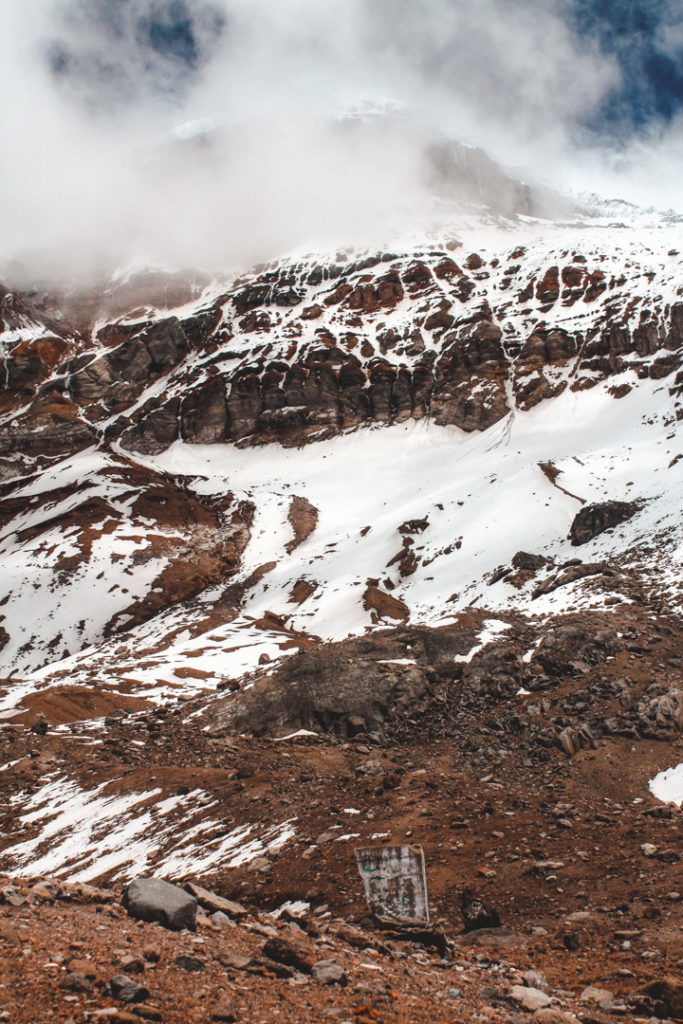Climbing Chimborazo volcano in Ecuador