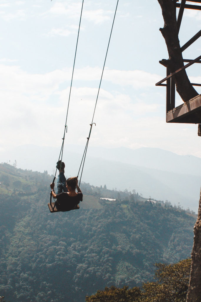 Swinging at La Casa del Arbol Ecuador