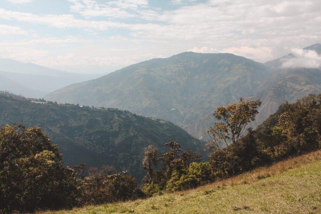 Mountain views in Banos Ecuador