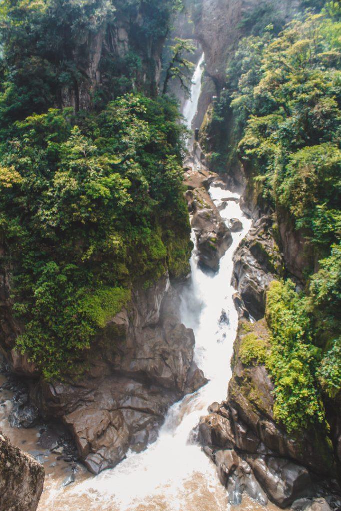 Pailon del Diablo waterfall Ecuador. Ecuador bucket list